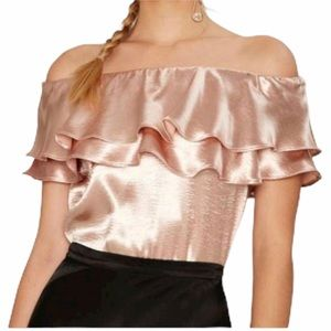 Endless Rose Satin Top. NWT. Medium